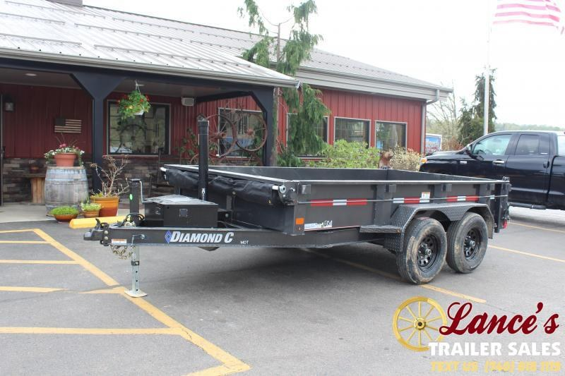 2021 Diamond C 12' Telescopic Dump Trailer