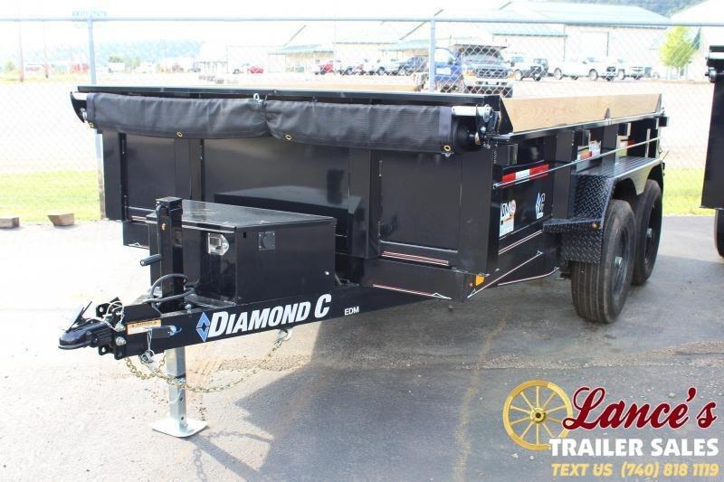 """2020 Diamond C 77""""x12' Dump Trailer"""