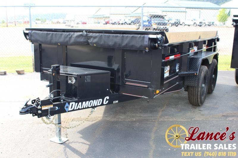 "2019 Diamond C 77"" x 12ft. Dump Trailer"
