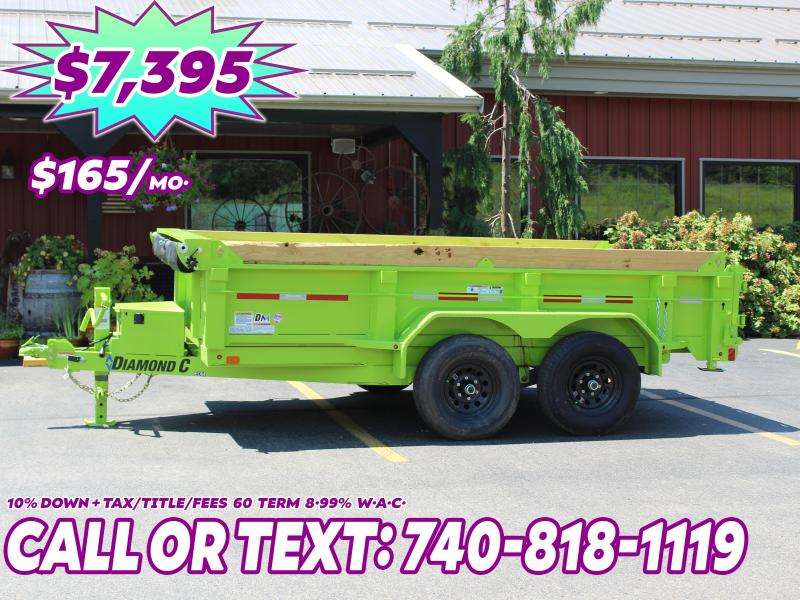 "2020 Diamond C 12'x77"" HD Dump Trailer"