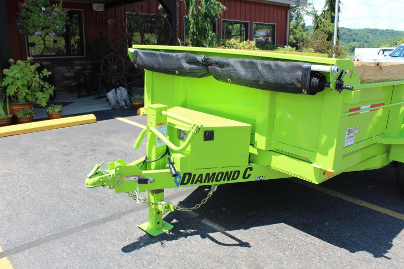 "2021 Diamond C 12'x77"" HD Dump Trailer"