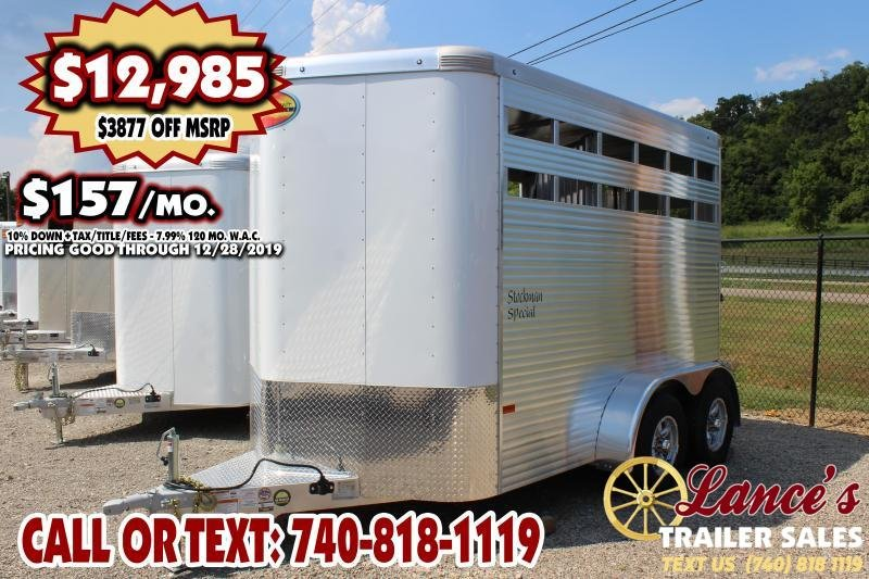 2020 *DEMO*  Sundowner Stockman Special 2 Horse Bumper Pull Horse Trailer
