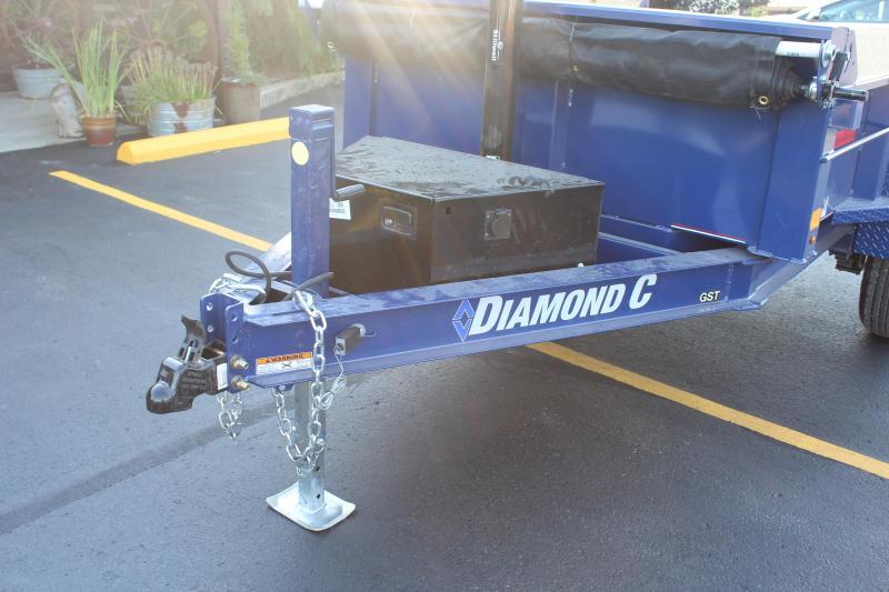 2022 Diamond C 8' Single Axle Dump Trailer