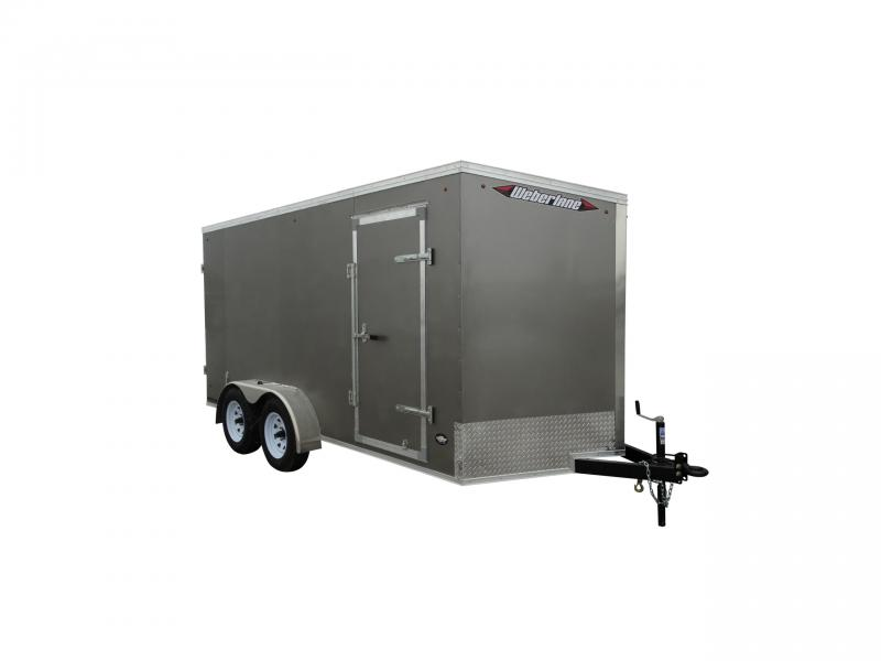 "2021 Weberlane 7X14 CARGO TRAILER, BARN DOORS, 78"" INT HT Cargo / Enclosed Trailer"