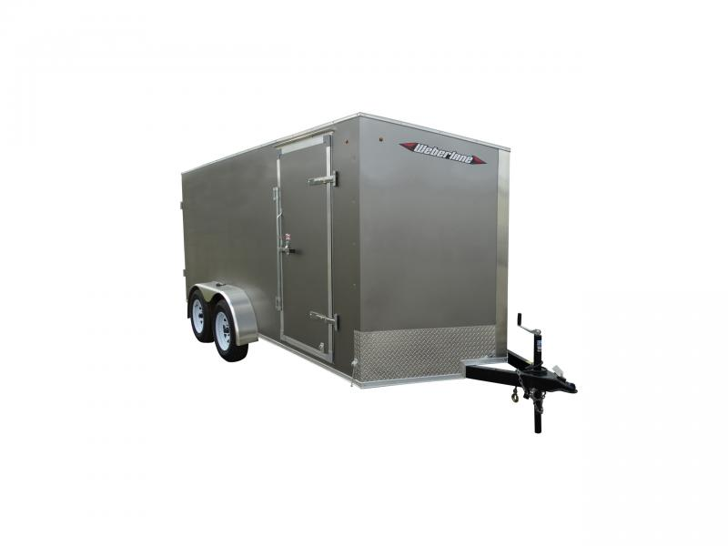 "2021 Weberlane 7X14 CARGO TRAILER, REAR RAMP DOOR, 78"" INT HT Cargo / Enclosed Trailer"