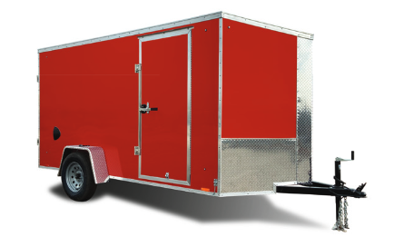 2022 Cargo Express 7X16 CARGO TRAILER, REAR RAMP DOOR, 84 INT HT Cargo / Enclosed Trailer