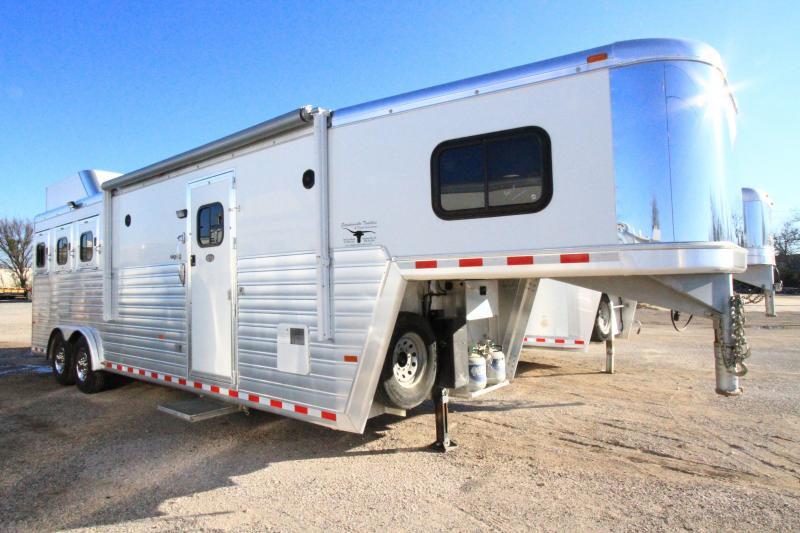 2013 Hart Ultimate 3H 10' SW Fold Down Bunk Horse Trailer