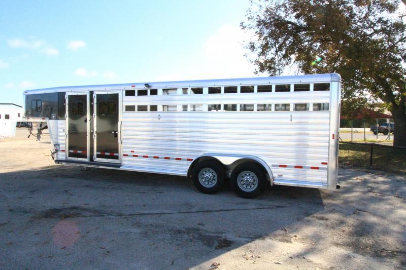 2020 Hart Lariat 24' GN Stock Smart Tack II Livestock Trailer