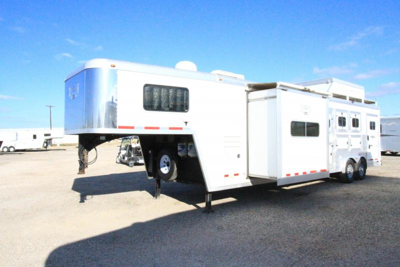 2014 Logan Coach 3H 12' SW Horse Trailer - Slide Out