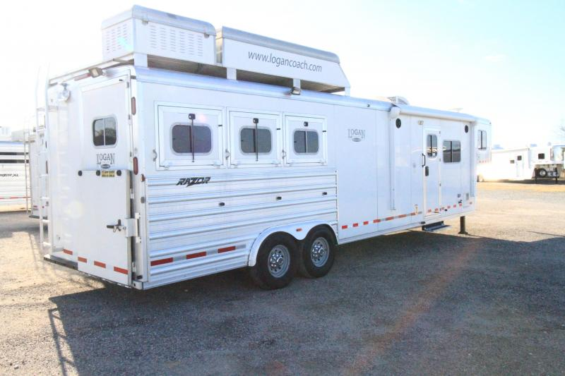 2014 Logan Coach 3H 12' SW Horse Trailer - Slide Out