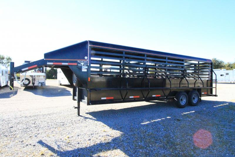 2019 Wyatt 24' GN Stock Livestock Trailer