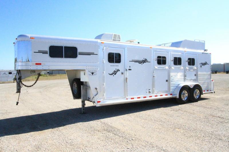 2008 Platinum 3H 8' SW LQ Horse Trailer