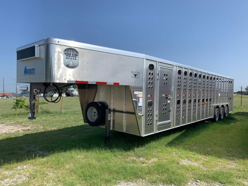2021 Merritt 32' GN Stock Trailer - Tri Axle