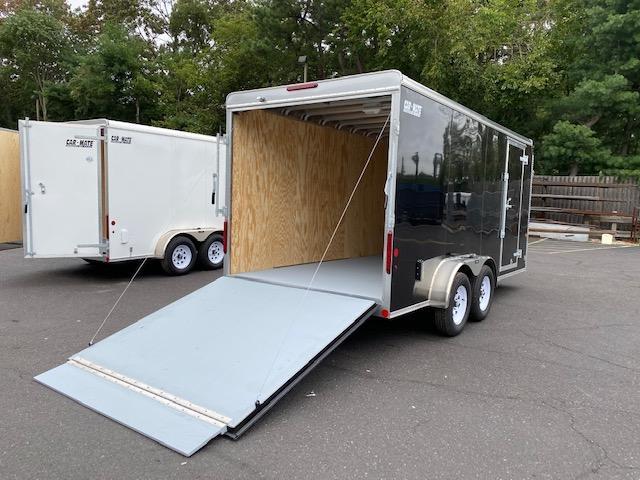 "2021 Car Mate Trailers - 7 X 14 Tandem Axle Custom Enclosed Cargo Trailer W/ 6"" Additional Height 2022826"