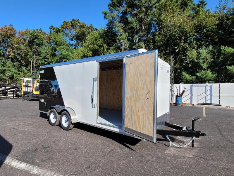 """2021 Car Mate 7x18 Enclosed Cargo Trailer With 6"""" Addt'l Height 2024779"""