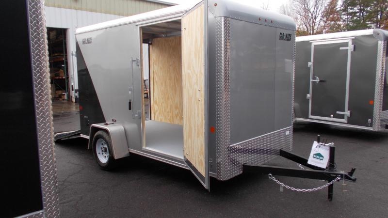 """2021 Car Mate 6x12 Enclosed Cargo Trailer with Addt'l 6"""" Height 2023187"""