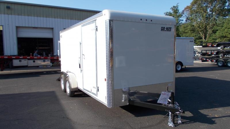 "2021 Car Mate Trailers 7 X 16 Tandem Axle Enclosed Cargo Trailer W/ 6"" Additional Height 2022913"