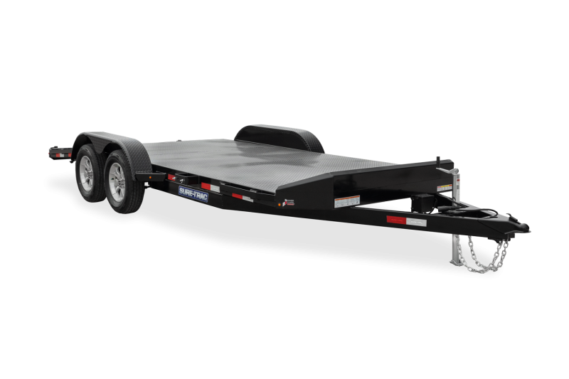 2021 Sure-Trac 7 x 18 (14+4) 7K Steel Deck Car Trailer 2023572
