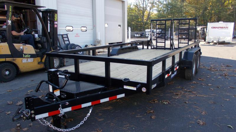 2021 Sure-Trac 7 x 18 (16+2) 14K Heavy Duty Landscape / Equipment Trailer 2022907