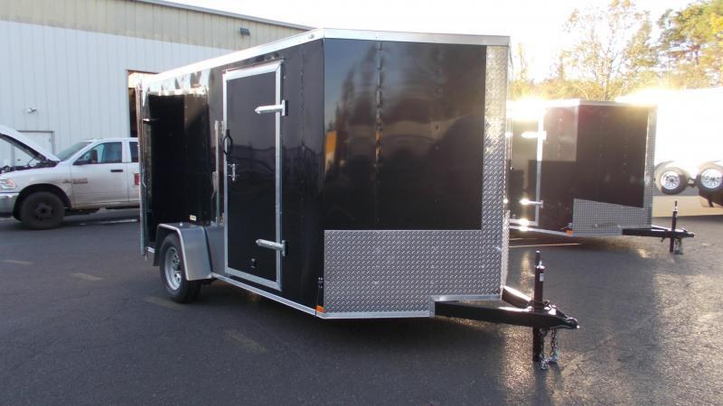 2021 Lark 6X10 V-Nose Enclosed Cargo Trailer 2023494