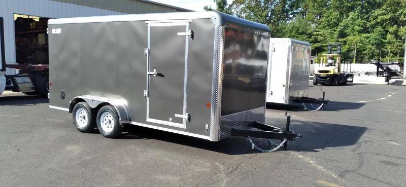 """2021 Car Mate 7x16 Enclosed Cargo Trailer with 6"""" Addt'l Height 2024759"""