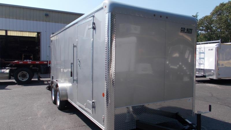 "2021 Car Mate Trailers - 7 X 18 Tandem Axle Custom Enclosed Cargo Trailer W/ 6"" Additional Height 2022823"