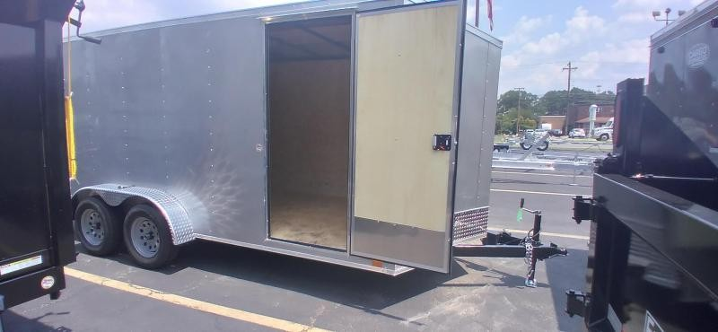 """2021 Cargo Express 7x16 Enclosed Cargo Trailer with 6"""" Addt'l Height 2024583"""