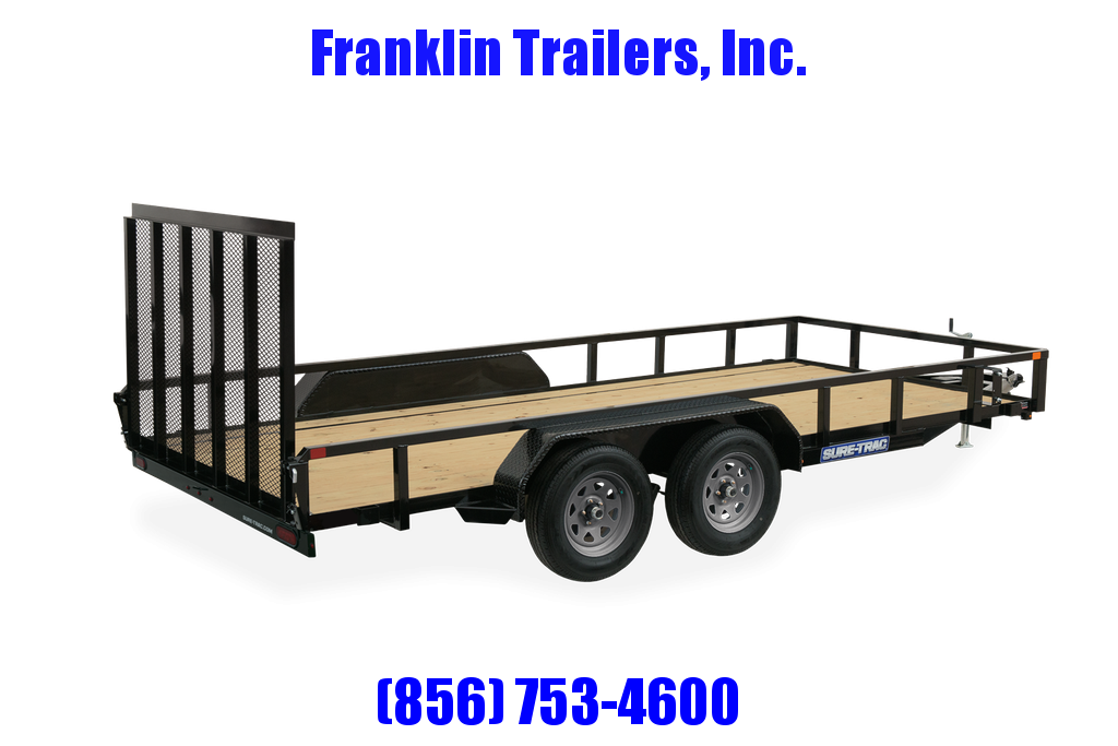 2021 Sure-Trac 7 x 18 Tube Top Utility Trailer  7K T/A 2022630