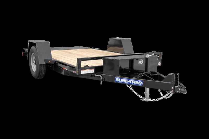 "2021 Sure-Trac 78""x12'  Equipment Trailer 2023408"