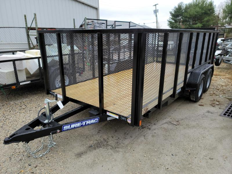 2021 Sure-Trac 7x16 High Mesh Side Utility Trailer 2023234