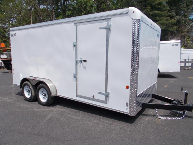 "2021 Car Mate 7x16 Enclosed Cargo Trailer With 6"" Addit'l Height 2024253"