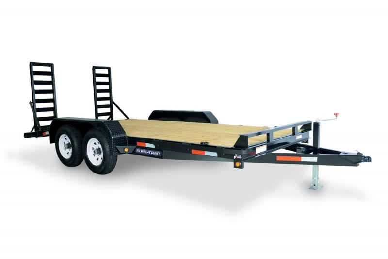2021 Sure-Trac 7 x 18 (16+2) Equipment Trailer  14K