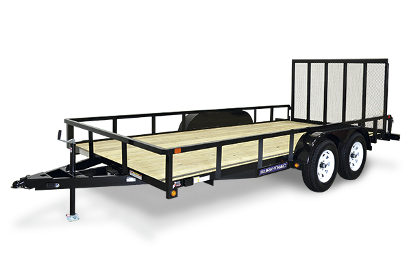 2021 Sure-Trac 7 x 16 Tube Top Utility Trailer 7K 2024009