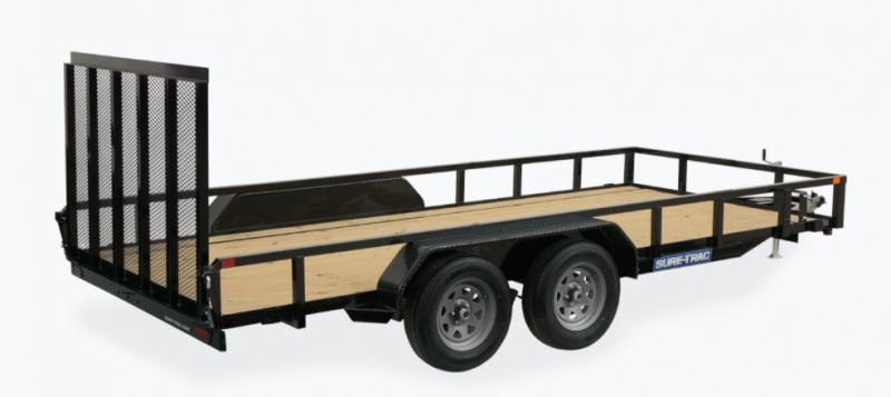 2021 Sure-Trac 7x16 7K Tube Top Utility Trailer 2024234