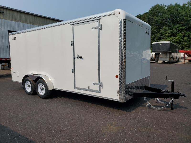 """2021 Car Mate 7x18 7K Enclosed Cargo Trailer with 6"""" Addt'l Height 2024543"""