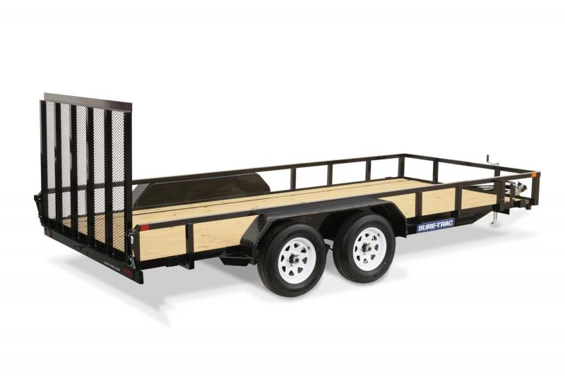 2021 Sure-Trac 7 x 16 Tube Top Utility Trailer 7K 2024006