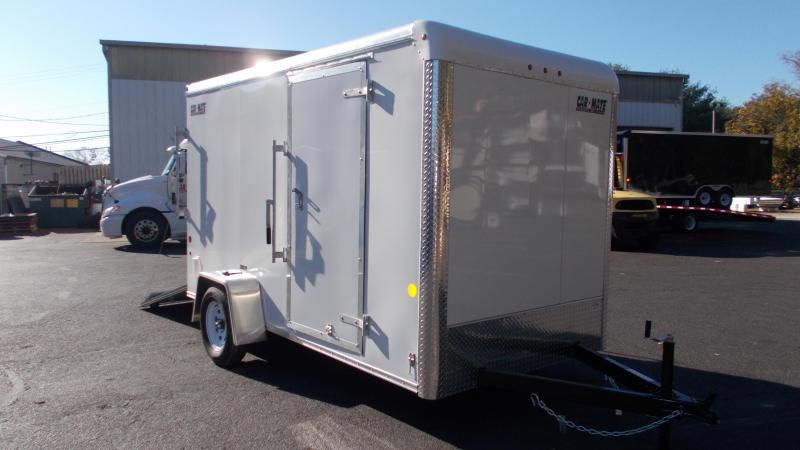 "2021 Car Mate 6x12 Enclosed Cargo Trailer with 6"" Addt'l Height 2023175"
