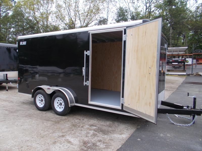 "2021 Car Mate7x16 7K  Enclosed Cargo Trailer With 6"" Addt'l Height 2024169"