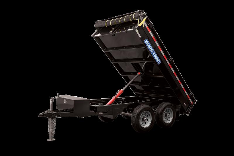 2021 Sure-Trac 6 X 10 SD Deckover Dump Trailer  10K Sin 2023003