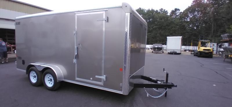 """2021 Car Mate 7x16 Enclosed Cargo Trailer with 6"""" Addt'l Height 2024846"""