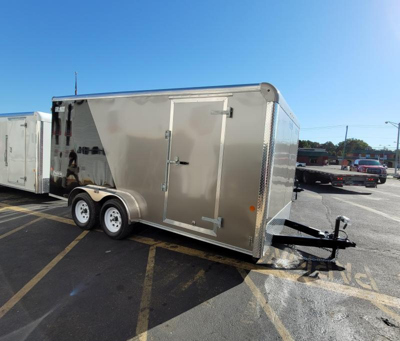 """2021 Car Mate 7x16 Enclosed Cargo Trailer With 6"""" Addt'l Height 2024778"""