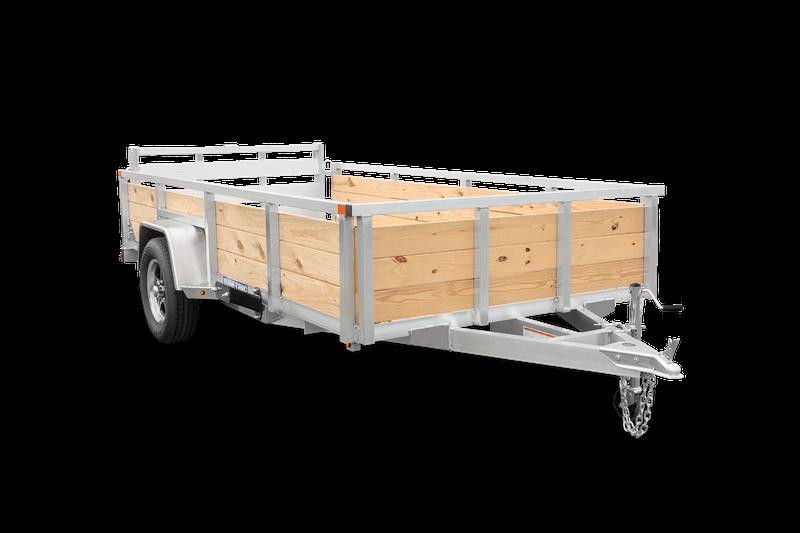 2021 Sure-Trac 7X14 High Side Aluminum Utility Trailer 2023229