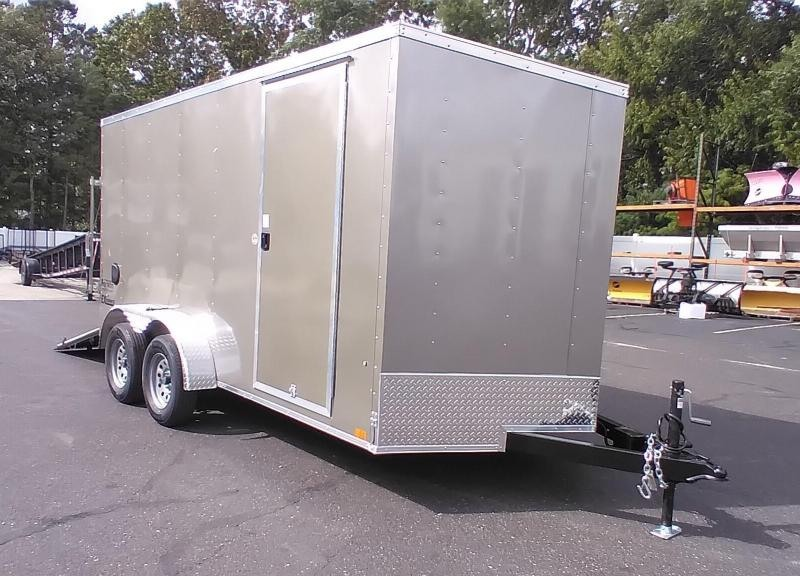 """2022 Cargo Express 7x14 V-Nose Enclosed Cargo Trailer with 6"""" Addt'l Height 2024767"""