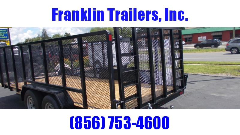 2020 Sure-Trac 7 X 16 Tube Top Utility W/4' high mesh sides 7K Tandem