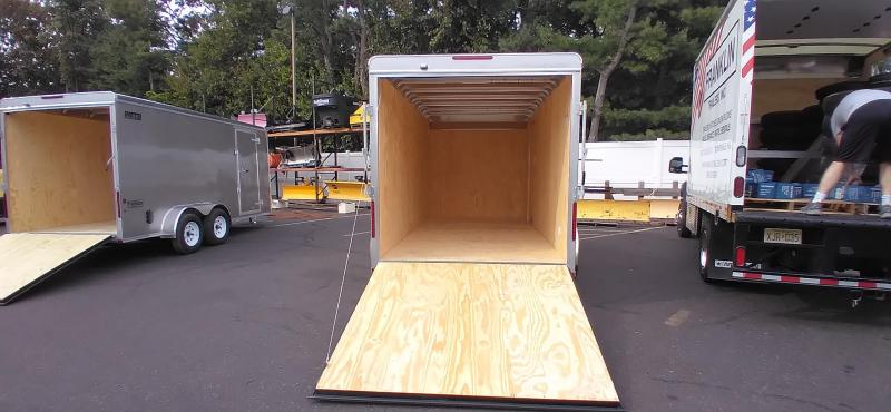 """2021 Car Mate 7x16 Enclosed Cargo Trailer with 6"""" Addt'l Height 2024817"""