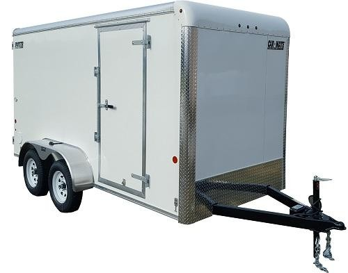 """2021 Car Mate 7x14 Enclosed Cargo Trailer with 6"""" Addt'l Interior Height 2024870"""