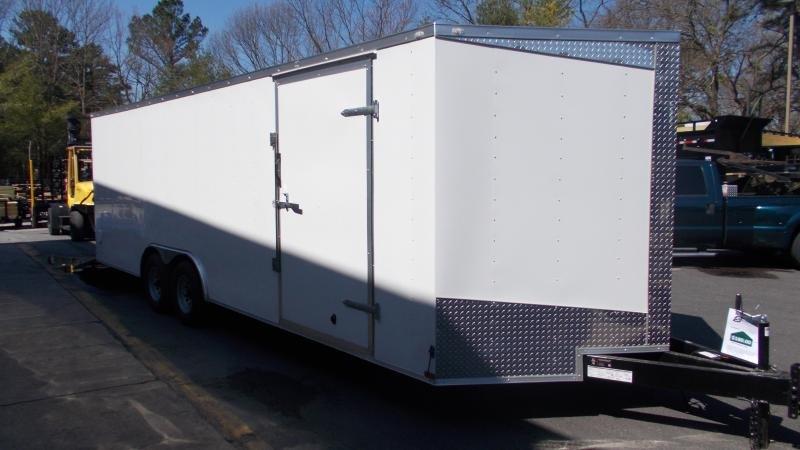 2020 Lark 8.5x24 10K V-Nose Enclosed Car Trailer 2022044