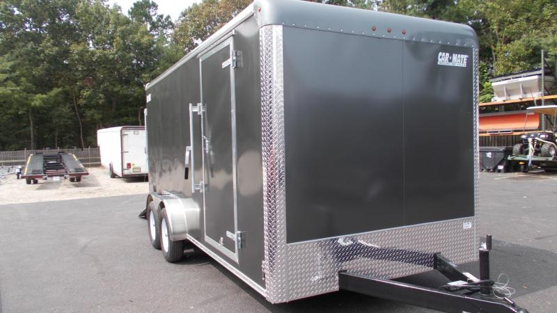 "2021 Car Mate Trailers 7 X 16 Tandem Axle Custom Enclosed Cargo Trailer w/ 6"" Additional Height 2022856"