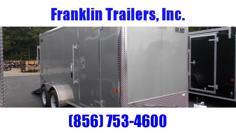 "2020 Car Mate 7X16 Tandem Axle Enclosed Cargo Trailer w/ 6"" Additional Height  2022494"