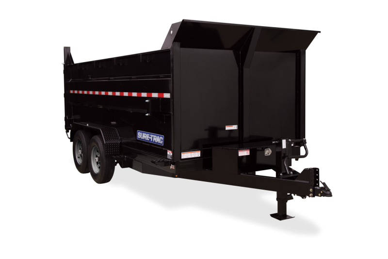 2021 Sure-Trac 7x14 Dump Trailer with High Sides 2023406